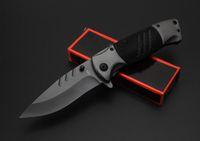 Novo OEM Marrom F83 DA104 DA72 Rápido-abertura dobrável Tático faca Cinza Titaniun Lâmina de Aço + alça de alumínio facas de campismo com caixa de varejo