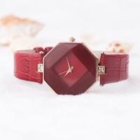Small Fresh Soft Women Watch Fashion Casual Women Leather Ba...