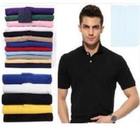 Hot's shirt t-shirt piccoli cavallo coccodrillo ricamo abbigliamento uomo tessuto lettera polo t-shirt collare casual t-shirt maglietta Tops B