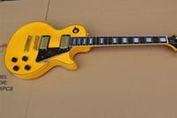 Super Les Custom Randy Rhoads Signature * Tastiera in ebano + Fret Binding * Chitarra elettrica gialla Grover Tuners Spedizione gratuita