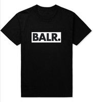 Male Summer Clothes Balr T Shirts Street Tide Casual Short- S...
