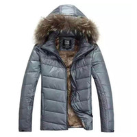 Free shipping New winter Male casual Down solid Parka Hood W...