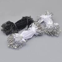 1000 шт. предварительно повесить тег шнур с булавкой одежды Цена свинг тег DIY шнур