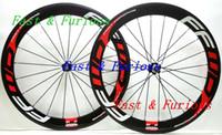 자전거 도로 폭 무료 배송! F6R 탄소 바퀴 60mm 클린 처 관 도로 자전거 카본 휠 700C의 25mm