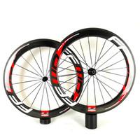 FFWW 50MM U شكل حزب المحافظين كامل عجلات الكربون 50MM الفاصلة / أنبوبي الطريق دراجة الكربون عجلة 700C الطريق الدراجة