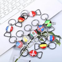 World Cup 2018 Creative Football Keychain Flag Trophy Beer B...