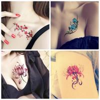 Dessin des douanes du corps étanche tatouage temporaire autocollant pour femmes hommes bricolage corps Faux maquillage transfert d'eau du papier en stock