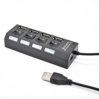 New High Speed LED Slim USB Hub 2. 0 4 Ports Usb Hub Splitter...