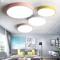 5CM Ultra- thin Ceiling Light Macaron Color Round Acrylic Led...
