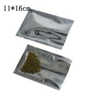 11 * 16 cm Przezroczyste Plastikowe Torba do pakowania Mylar Retail 200 SZTUK / LOT HEAT CHEATLOWA Otwarte Najlepsze Suszone Kwiat Wołowy Przekąski Owoc Próżniowa Studka