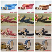 Kids Belts Fashion Adults Classic Belts Needle Buckle Litchi...