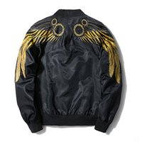 Mens Wing Embroidery Giacche Maschile MA1 Thin Spring New Coats EAGLE WINGS Epaulet Design Bomber Jacket