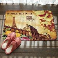 História Mundial Imprimir Tapetes de Banho Antiskid Non Slip Tapete de Porta Absorvente Banheiro Tapetes de Banheiro Quarto Mats