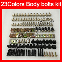 Boulons de carénage Kit à vis entier pour Yamaha Yzfr1 04 05 06 YZF R1 YZF 1000 YZF1000 YZF1000 YZF-R1 2004 2006 NUTS BORD NUTS VIS VIS KIT DE BOUTON DE NOTE 25Couleurs