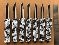8 inches Medium 616 D A auto knives Winter Digital Camo self...