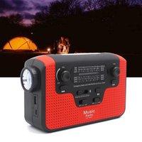 6 في 1 شاحن الطوارئ الساعد اليد الخفيفة FM / AM / SW راديو بلوتوث المتكلم مع فتحة بطاقة TF