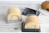 Boîtes de petit pain de gâteau simples en plastique transparentes de boîte de gâteau de PP Boîtes de petit pain suisses d'emballage alimentaire de wen5789