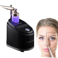 نقية الأكسجين رذاذ الماء جيت الوجه تدليك الجلد تجديد الرعاية قشر آلة تبييض خفيف التجاعيد إزالة تنظيف