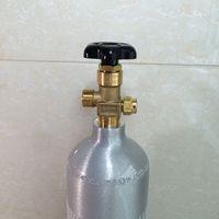 Cilindro vacío de CO2 de 2L, cilindro de gas con válvula para elaboración doméstica (no se instala cuando se entrega)