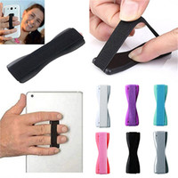 Dedo Grip Strap Suporte Do Telefone W faixa elástica Stand hoder Sling Aderência seu telefone anel de dedo dispositivo para iphone SE 6 s 7 plus samsung s7 note7