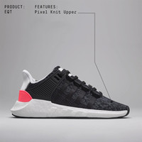 With Box EQT 93 17 ultra shoe Support Future black white pin...