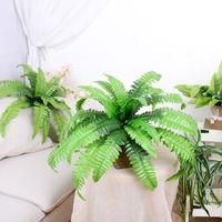 As plantas verdes artificiais artificial persa floral Fern envasadas folhas de grama de plástico Grama artificial Grama em Pot Decoração grinalda Falso