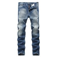 Straight Slim Mens Jeans Brand Fashion Casual Denim Trousers Pockets Men Clothes 2018 Plus Size