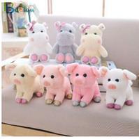Babiqu 1 stück 20 cm Nette Tiere Puppe Weiche Gefüllte Kawaii Schwein und Nilpferd Plüschtiere für Kinder Geburtstagsgeschenk Kinder Baby Beschwichtigen Spielzeug