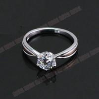 1CT Qualität Sterling Silber Solitaire Ring Zinken Garantie Synthetische Diamanten 925 Ring für Frauen Hochzeit 925 Trendy Schmuck