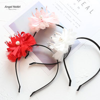 Korean new designer Girls Crown Hair Clip lace floral baby g...