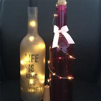 솔라 와인 병 마개 코르크 모양의 문자열 조명 10 LED 나이트 페어리 라이트 램프 전문 공장 가격 드롭 배송