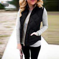 FEITONG зимняя мода женщины леди черный карман жиле пальто без рукавов жилеты куртка верхняя одежда жилет doudoune sans manche femme