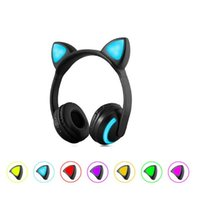 Foldable Cat ear Bluetooth Headphone Flashing Glowing Headse...