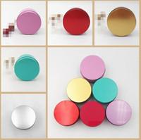 Yuvarlak Popüler Teneke Kutu Boş Metal Saklama Kutusu Organizatör Stash takı Için 5 renkler 7.5 cm OD Para Para Düğün Şeker Tuşları U disk kulaklık