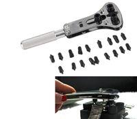 Strumento kit di riparazione per chiave apri coperchio coperchio posteriore regolabile in acciaio inossidabile con 18 pezzi di ricambio sostituibile