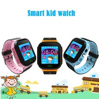Écran tactile Q528 Smart LBS Tracker WatchAnti-perdu Enfants Enfants Smart montre LBS Tracker Wrist Watchs SOS Appel Pour Android IOS