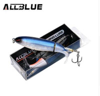 Allblue Whopper Popper 9 cm / 11 cm / 13 cm Topwater Fishing Lure Esche artificiali Duro Plopper Soft Rotating Tail Fishing Tackle Geer