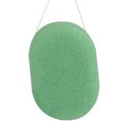 4 unids / lote 3 colores Oval 100% Natural Té verde Konjac Facial Corporal Esponja Facial Wash Limpiar Puff 107 * 67 * 28