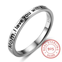 925 Sterling silver ring Mother' s Day mother Gift Perso...
