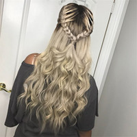 Straight Ombre Color Wig 1B Grey Full Lace Human Hair Wig 13...