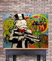 HD Printed Alec Monopoly Oil Painting Home Decoration Wall A...