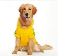 Плюс размер случайные толстовки для больших собак Осень Зима Pet собака одежда домашние животные пальто мягкий хлопок собака толстовки одежда для щенков XS-2XL