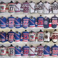 Нью-Йорк Рейнджерс 99 Уэйн Гретцки Джерси 18 Марк Стаал 22 Майк Гартнер 23 Джефф Beukeboom 26 Джо Коджер 75-й хоккейные майки