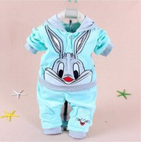 Baby Clothes Newest Spring Autumn Rabbit And Cow Pattern Hoo...