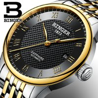 Switzerland BINGER watches men luxury brand sapphire waterpr...