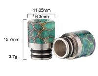 Vaporizer 510 resin drip tips honeycomb Pretty Pattern Wide ...
