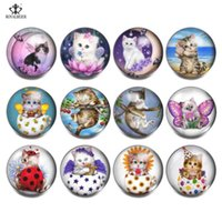 12pcs lot New Arrive Cute Cartoon Kitten Multi Themes 18mm G...
