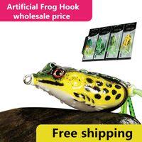 부드러운 고무 시뮬레이션 레이 개구리 스네이크 헤드 낚시 미끼 4.5cm - 8g 5cm - 11g 5.5cm - 14g 믹스 컬러 상자 개구리 루어 후크