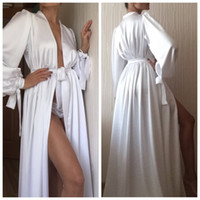 New Fashion Sexy White Night Robe Bathrobe Pyjamas Wedding B...