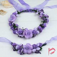 1 Set Boho Floral Flower Crown Headband Hair Garland Wedding...